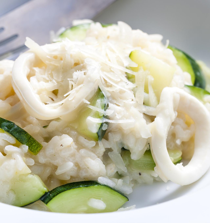 Risotto zucchine e calamari - Ricetta GiorgioMare