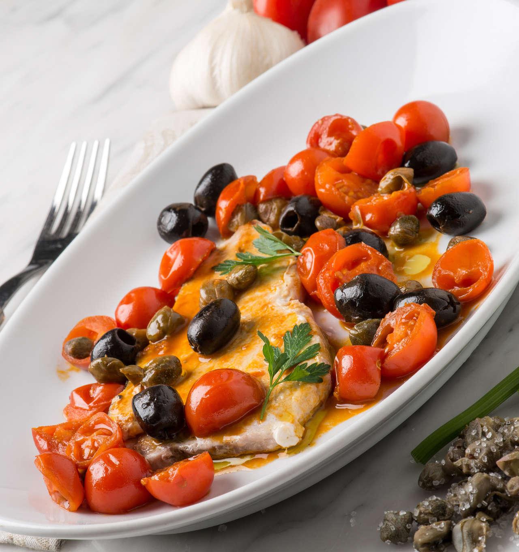 Trance di verdesca alla siciliana Filetto di platessa al limone e pepe rosa - Ricetta GiorgioMare