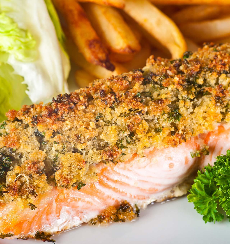 Porzioni di filetto di salmone gratinato - Ricetta GiorgioMare