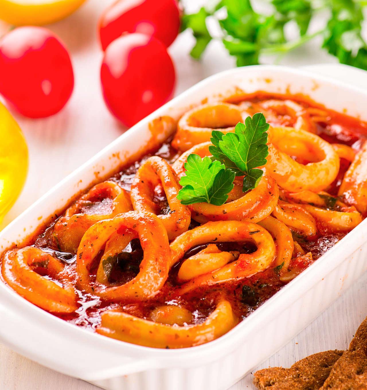 Anelli di totano al pomodoro - Ricetta GiorgioMare